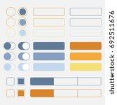 set of web elements. vector...
