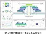 seven strategy slide templates... | Shutterstock .eps vector #692513914