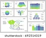 eight workflow slide templates... | Shutterstock .eps vector #692514319