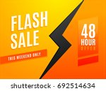 flash weekend sale for 48 ... | Shutterstock .eps vector #692514634
