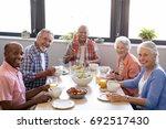 portrait of senior people... | Shutterstock . vector #692517430