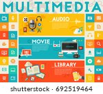 multimedia concept collection | Shutterstock .eps vector #692519464