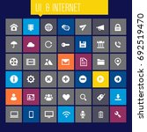 big ui and internet icon set | Shutterstock .eps vector #692519470