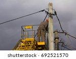 electrician repair of electric... | Shutterstock . vector #692521570