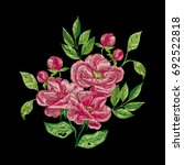 vector embroidery with pink... | Shutterstock .eps vector #692522818