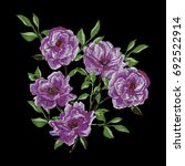 vector embroidery with camellia ... | Shutterstock .eps vector #692522914