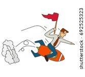 business illustration concept... | Shutterstock .eps vector #692525323