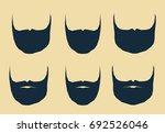 beard and mustache in vector... | Shutterstock .eps vector #692526046