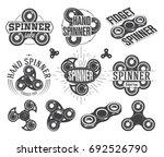 hand spinner emblems and logos  ...   Shutterstock .eps vector #692526790