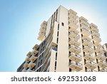 modern apartment building...   Shutterstock . vector #692531068