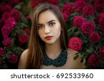 close up portrait of a... | Shutterstock . vector #692533960