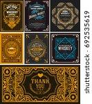 seven cards for packing | Shutterstock .eps vector #692535619