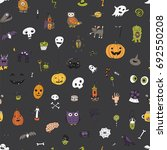 icons and halloween objects... | Shutterstock .eps vector #692550208