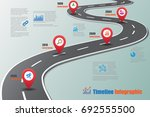 business road map timeline... | Shutterstock .eps vector #692555500