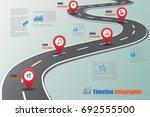 business road map timeline... | Shutterstock .eps vector #692555500