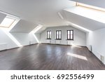 side view of unfurnished room... | Shutterstock . vector #692556499