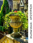 concrete flower pots in the... | Shutterstock . vector #692559424