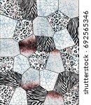 leopard and zebra print.... | Shutterstock . vector #692565346