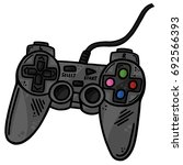 gaming controller remote line... | Shutterstock .eps vector #692566393