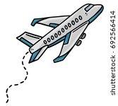 Airplane Line Art Vector...