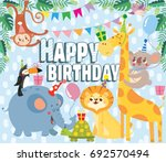 birthday greeting cards with... | Shutterstock .eps vector #692570494
