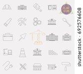 building line icons set | Shutterstock .eps vector #692576608