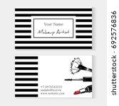 makeup artist template business ... | Shutterstock .eps vector #692576836