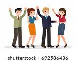 successful business team... | Shutterstock .eps vector #692586436