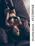 top up upsite down view of sexy ... | Shutterstock . vector #692588968