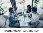 presentation of a new start up...   Shutterstock . vector #692589769