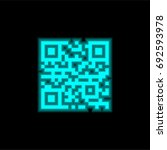 qr code blue glowing neon ui ux ...