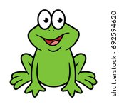 cartoon frog character | Shutterstock .eps vector #692594620