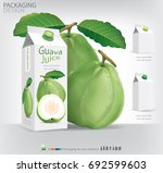 guava packaging design... | Shutterstock .eps vector #692599603