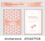 luxury wedding invitation... | Shutterstock .eps vector #692607928