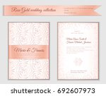 luxury wedding invitation... | Shutterstock .eps vector #692607973