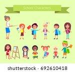 school characters vector... | Shutterstock .eps vector #692610418