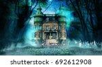 haunted mansion | Shutterstock . vector #692612908