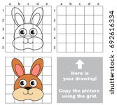 copy the picture using grid... | Shutterstock .eps vector #692616334