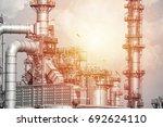 industrial zone the equipment... | Shutterstock . vector #692624110