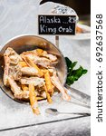 Small photo of Alaska King crab seafood on ice