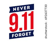 911 never forget patriotic day... | Shutterstock .eps vector #692637730