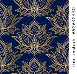 indian seamless pattern... | Shutterstock .eps vector #692642440