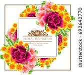 romantic invitation. wedding ... | Shutterstock .eps vector #692642770