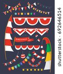 festive bunting flags of... | Shutterstock .eps vector #692646514