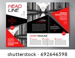 business brochure. flyer design.... | Shutterstock .eps vector #692646598