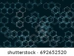 vector abstract boxes... | Shutterstock .eps vector #692652520
