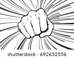 punching fist hand vector | Shutterstock .eps vector #692652556