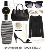 set of stylish clothes woman... | Shutterstock . vector #692655610