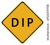 dip sign isolated on a white...   Shutterstock .eps vector #692655958