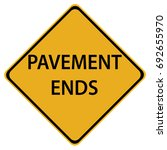 pavement ends warning sign